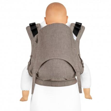 Fidella Fusion Toddler 2.0 Classic Chevron walnut - nosidło ergonomiczne klamrowe, regulowane