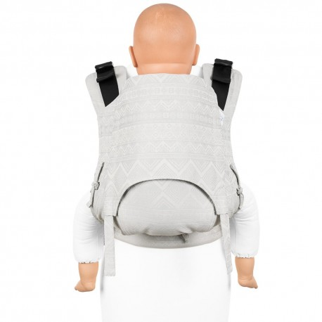 Fidella Fusion Toddler 2.0 Cubic Lines pale grey - nosidło ergonomiczne klamrowe, regulowane