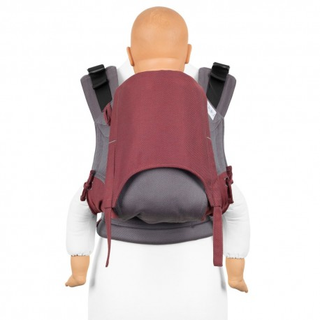 Fidella Fusion Toddler 2.0 Lines red - nosidło ergonomiczne klamrowe, regulowane