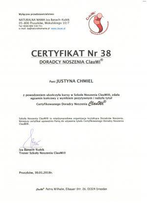 Certyfikat Doradcy Noszenia