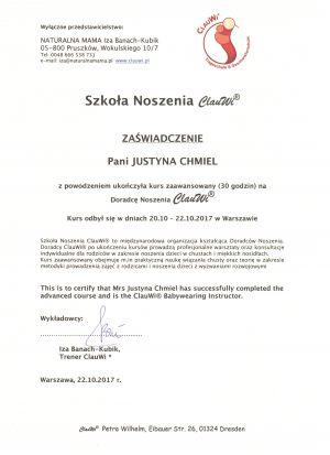 Dyplom kurs zaawansowany ClauWi®
